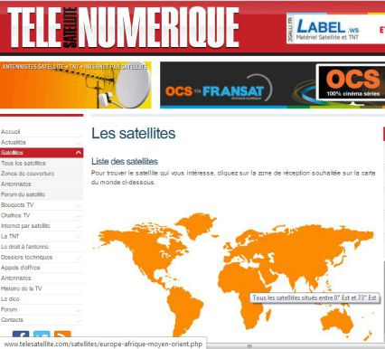 Lien direct vers le logitiel de pointage satellite.